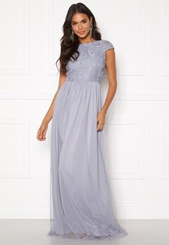 BUBBLEROOM Ariella prom dress Dusty blue Bubbleroom.fi