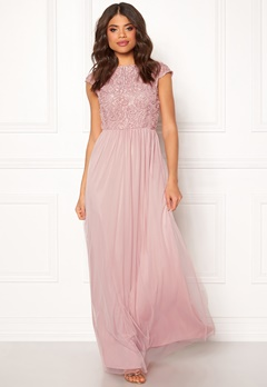 BUBBLEROOM Ariella prom dress Dusty pink Bubbleroom.fi
