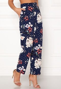 BUBBLEROOM Barbara trousers Blue / Floral / Dotted Bubbleroom.fi