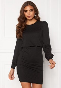 BUBBLEROOM Besa long sleeve short dress  Black Bubbleroom.fi