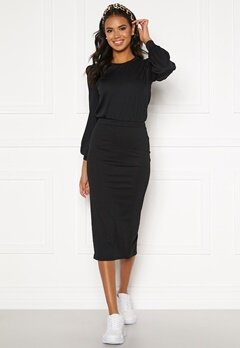 BUBBLEROOM Besa rib dress Black Bubbleroom.fi