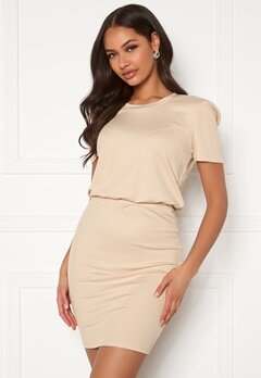 BUBBLEROOM Besa short dress Beige Bubbleroom.fi