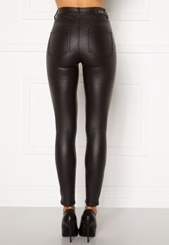 BUBBLEROOM Bianca coated jeans Black Bubbleroom.fi