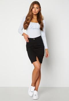 BUBBLEROOM Bianca denim skirt Black Bubbleroom.fi