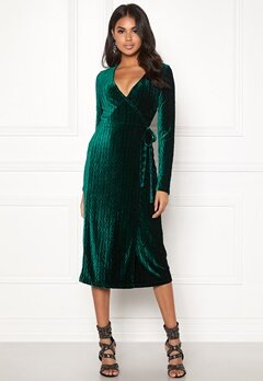 BUBBLEROOM Blair overlap dress Dark green Bubbleroom.fi