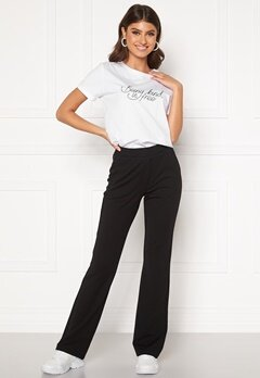 BUBBLEROOM Bonita flared soft suit pant Black Bubbleroom.fi