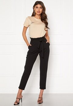BUBBLEROOM Bonita soft paperbag pant Black Bubbleroom.fi