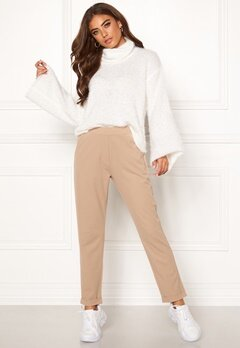 BUBBLEROOM Bonita soft suit pant Light nougat Bubbleroom.fi