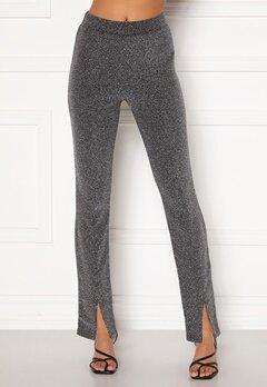 BUBBLEROOM Bonita sparkling slit leggings Black / Silver Bubbleroom.fi
