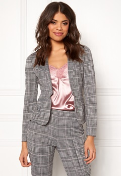 BUBBLEROOM Brienne blazer Grey / Pink / Checked Bubbleroom.fi