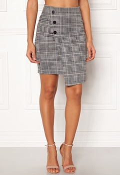 BUBBLEROOM Brienne skirt Grey / Pink / Checked Bubbleroom.fi