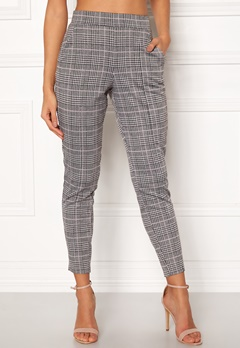 BUBBLEROOM Brienne trousers Grey / Pink / Checked Bubbleroom.fi