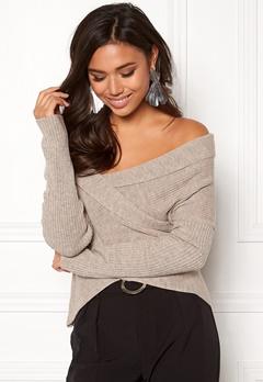BUBBLEROOM Brixia knitted sweater Beige melange Bubbleroom.fi