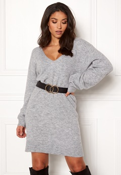 BUBBLEROOM Brooke knitted dress Grey melange Bubbleroom.fi