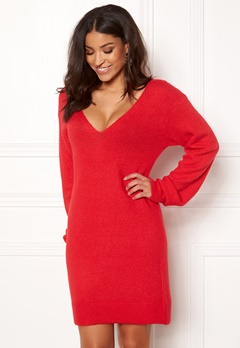 BUBBLEROOM Brooke knitted dress Red Bubbleroom.fi