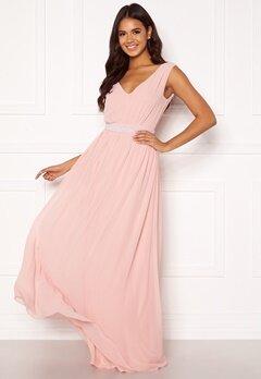 BUBBLEROOM Candance pearl prom dress Dusty pink Bubbleroom.fi
