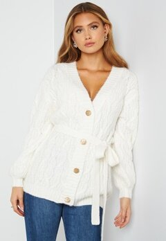 Bubbleroom Care Mary Knitted Cardigan Offwhite bubbleroom.fi