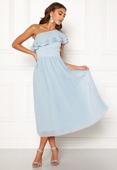 BUBBLEROOM Carolina Gynning Frill one shoulder dress Light blue Bubbleroom.fi
