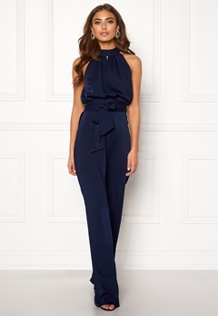BUBBLEROOM Carolina Gynning High neck jumpsuit Dark blue Bubbleroom.fi