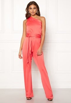 BUBBLEROOM Carolina Gynning One shoulder jumpsuit Coral Bubbleroom.fi