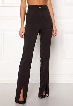 BUBBLEROOM Carolina Gynning Slitted trouser Black Bubbleroom.fi