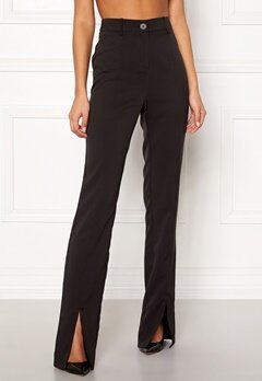 BUBBLEROOM Carolina Gynning Slitted trouser Black Bubbleroom.fi