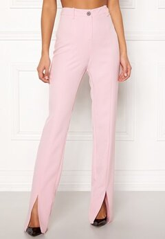 BUBBLEROOM Carolina Gynning Slitted trouser Light pink Bubbleroom.fi