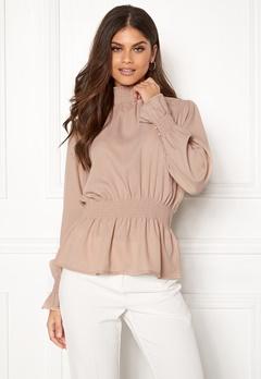 BUBBLEROOM Chelsea blouse Linen beige Bubbleroom.fi