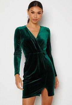 BUBBLEROOM Claria velvet dress Dark green Bubbleroom.fi