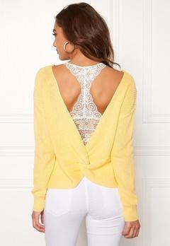 BUBBLEROOM Damaris knitted sweater Light yellow Bubbleroom.fi