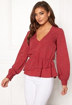 BUBBLEROOM Denice blouse Red / White / Dotted Bubbleroom.fi