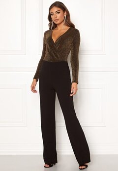 BUBBLEROOM Edalia sparkling top jumpsuit Black / Gold Bubbleroom.fi