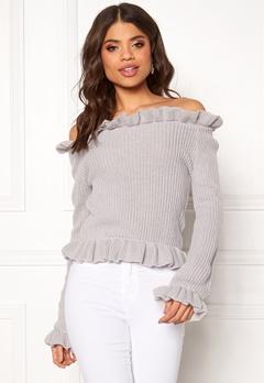 BUBBLEROOM Eliana knitted sweater Light grey Bubbleroom.fi