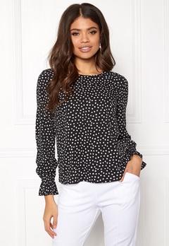 BUBBLEROOM Elma blouse Black / White / Dotted Bubbleroom.fi