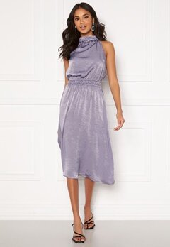 BUBBLEROOM Emalie high neck dress Grey-blue Bubbleroom.fi