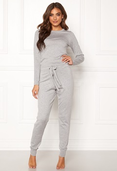 BUBBLEROOM Filippa fine knitted set Grey melange Bubbleroom.fi