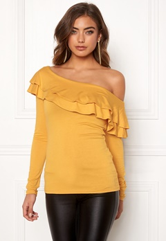 BUBBLEROOM Frieda frill top Yellow Bubbleroom.fi