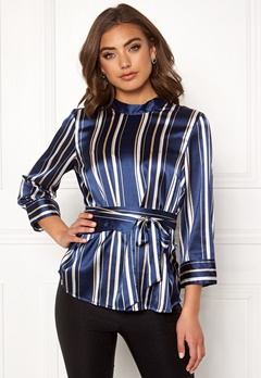 BUBBLEROOM Gabbie top Dark blue / Striped Bubbleroom.fi