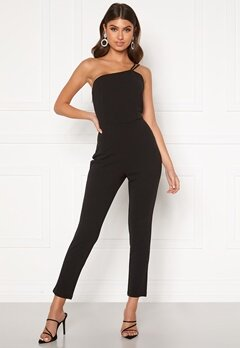 BUBBLEROOM Gabrielle one shoulder jumpsuit Black Bubbleroom.fi