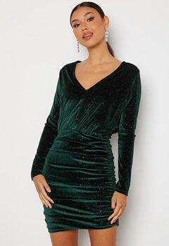 BUBBLEROOM Hillie sparkling velvet dress Green bubbleroom.fi
