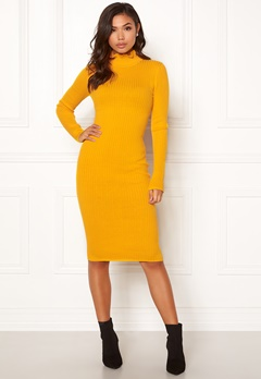 BUBBLEROOM Hilma knitted dress Mustard yellow Bubbleroom.fi