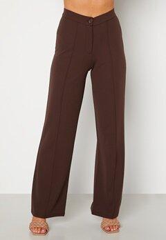 BUBBLEROOM Hilma soft suit trousers Dark brown bubbleroom.fi