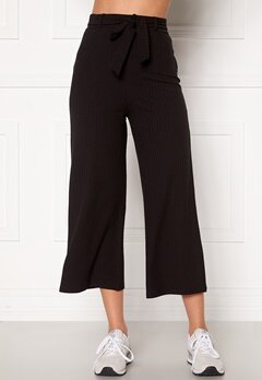 BUBBLEROOM Indira rib trousers Black Bubbleroom.fi