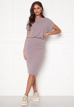 BUBBLEROOM Indira short sleeve dress Dusty lilac Bubbleroom.fi