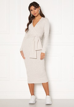 BUBBLEROOM Ines jersey dress Beige melange Bubbleroom.fi
