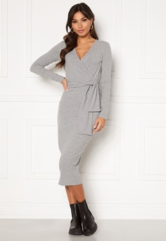 BUBBLEROOM Ines jersey dress Grey melange Bubbleroom.fi