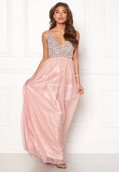 BUBBLEROOM Ivory embellished prom dress Light pink Bubbleroom.fi