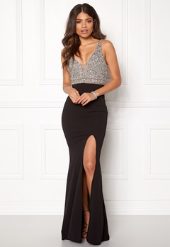 BUBBLEROOM Ivy embellished prom dress Black Bubbleroom.fi