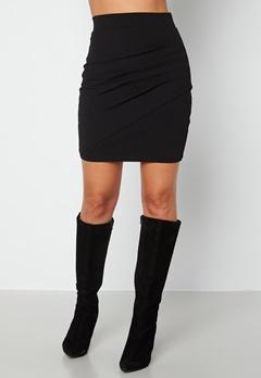 BUBBLEROOM Janni ruched skirt Black bubbleroom.fi