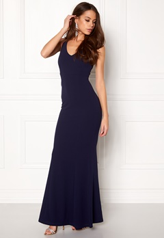 BUBBLEROOM Jaylin prom dress Dark blue Bubbleroom.fi